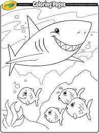 shark coloring crayola