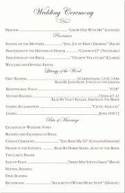 wedding programs exles wedding program exles luxury wedding ceremony program wedding