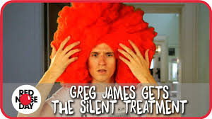 Silent Treatment Meme - greg james gets the silent treatment red nose day 2015 youtube