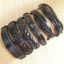 bracelet handmade leather images Free shipping handmade leather charm bracelets thezale jpg