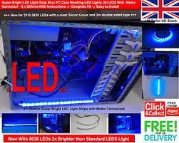 fry s led light strips super bright led light strip blue pc case modding led lights 30 leds