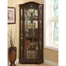 shop coaster fine furniture rich brown curio cabinet at lowes com