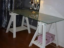 bureaux verre plateau en verre pour bureau free bureau console plateau marbre