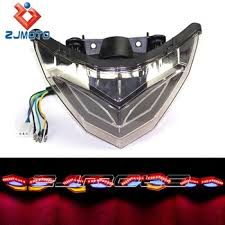 ninja 300 integrated tail light zjmoto ninja 300 250 smoke integrated led tail light with turn