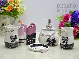 Salle De Bain Bathroom Accessories by Set Five Pieces Set Bathroom Supplies Sweet Theme Charming