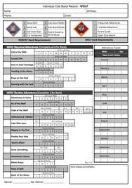 webelos arrow of light requirements 2017 cub scout wolf tracking record sheet with the new modified