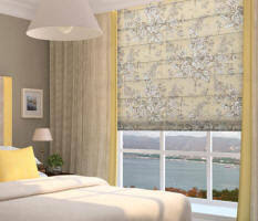 Classic Roman Shades - window shades ct wood blinds cellular shades