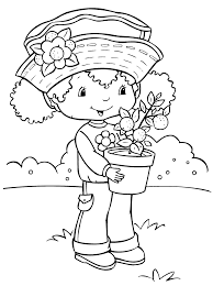 strawberry shortcake coloring pages learn to coloring