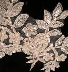 Pearl Home Decor Bridal Embroidered Pearl Beaded Blush Pink Powder Pink Lace