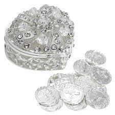 arras de boda wedding unity coins arras de boda heart shaped chest box with