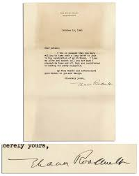 lot detail eleanor roosevelt typed letter signed as first lady