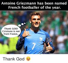 Thank God Meme - antoine griezmann has been named french footballer of the year thank