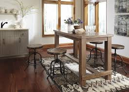 counter dining room sets pinnadel rect dining room counter table 4 swivel stools d542