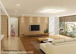 White Wall Design And Cream Sofa Design In Living Room - Creative living room design