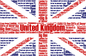 British Flag With Red Union Jack Flag With Typography As Flag Of United Kingdom Hd
