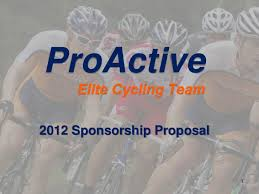 2012 pro active sponsorship proposal