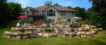Home Designer Pro Retaining Wall Boulder Retaining Wall Curved Stairs On Either Side And Natural