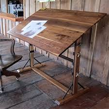 Steel Drafting Table Walnut Drafting Table And Lofty Side Table Solid Walnut And Steel