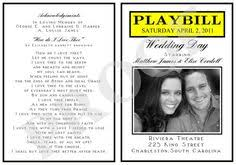 playbill wedding program hilarious inside of a playbill for the inside of our wedding