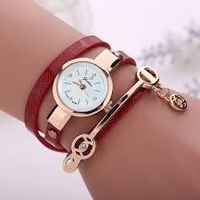 luxury leather bracelet images 2018 women watches new luxury casual analog alloy quartz watch pu jpg