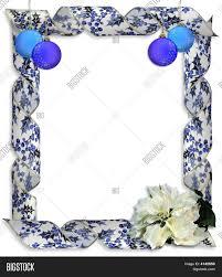 christmas ribbons border frame blue image u0026 photo bigstock