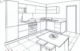 dessiner en perspective une cuisine technique de dessin perspective le de elise fossoux
