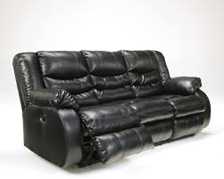 Benchcraft Leather Sofa by Buy Linebacker Durablend Black Reclining Sofa By Benchcraft