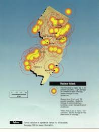 New Jersey Map Nuclear War Fallout Shelter Survival Info For New Jersey With Fema