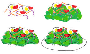 coloring page exquisite how to draw a salad stunning challenge1