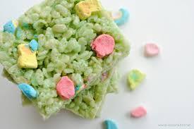 st patricks day rice krispie treats