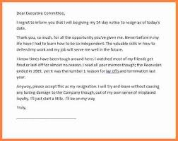 8 resignation letter with 2 weeks notice samples notice letter