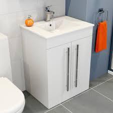 bathroom furniture icona white gloss plumbworld