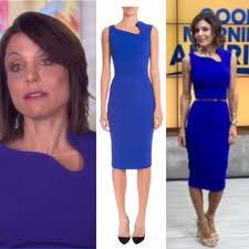 bethenny frankels u0027 cobalt blue cutout interview dress interview