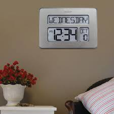 Digital Atomic Desk Clock Digital Atomic Clock Wall Clocks Wall Decor The Home Depot