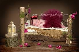 baby photography props real wood photo prop log bed newborn photography prop
