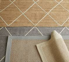 Pottery Barn Rug Pad Jute Lattice Rug Flax Ivory Pottery Barn