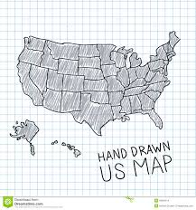Usa Map Vector by Hand Drawn Us Map Stock Vector Image 49981514