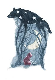 20 wolf illustration ideas red riding hood