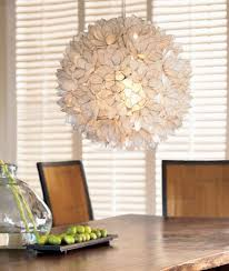 Lotus Pendant Light Decorative Warm White Capiz Shell Hanging Pendant Light Chandelier