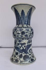 Blue And White Vases Antique Chinese Antique 15th C Blue U0026 White Porcelain Ming Vase Phoenix