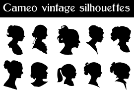 free silhouette images free vector cameo silhouettes free vectors pinterest