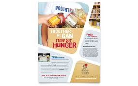 drive brochure templates food bank volunteer flyer template word publisher