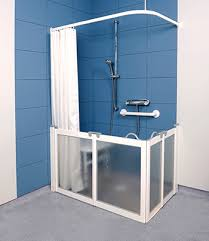 Disabled Half Height Shower Doors Closed Wf3 Bi Fold Doors Finished In White Half Height