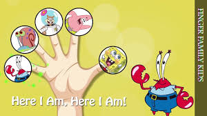 finger family song spongebob squarepants patrick sandy gary mr