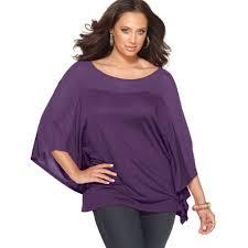 purple blouse plus size lyst plus size batwing sleeve sheer top in purple