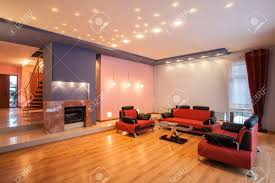 Red Sofas In Living Room by Black Living Room Carpet Amaranth House With A Red Sofa Stock