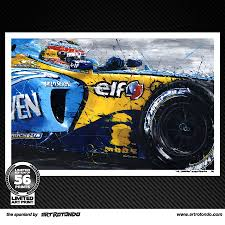 renault f1 alonso f1 art fernando alonso the spaniard