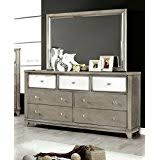 Silver Mirrored Bedroom Furniture by Amazon Com Silver Dressers Bedroom Furniture Home U0026 Kitchen
