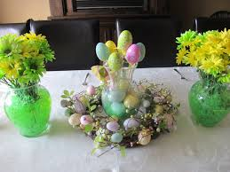 Easter Table Decorations Design by Natural Nice Simple Design Of The Clear Glass Easter Decorations