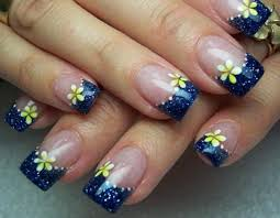 imagenes de uñas acrilicas fresh fresh blue flowers theme of blue nail design nail beauty
